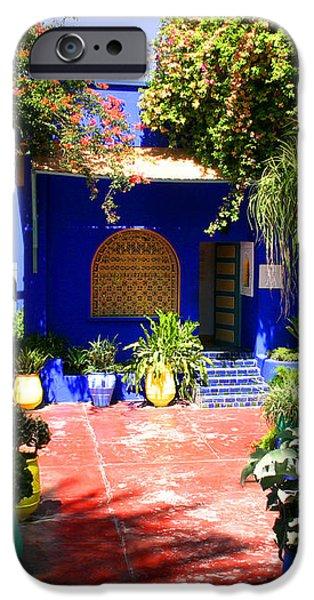 Majorelle Garden Marrakesh Morocco iPhone Case by Ralph A  Ledergerber-Photography