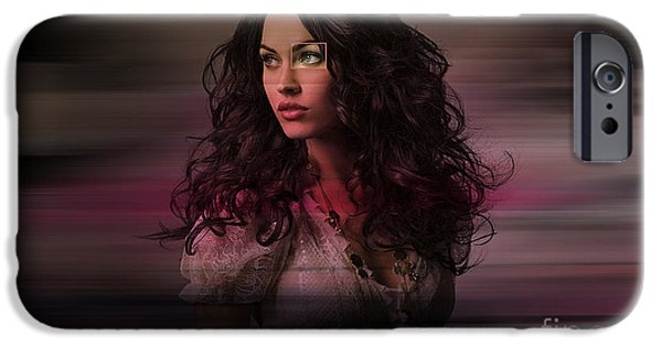 Fox iPhone Cases - Megan Fox  iPhone Case by Marvin Blaine