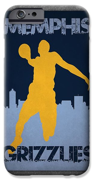 Grizzly iPhone Cases - Memphis Grizzlies iPhone Case by Joe Hamilton
