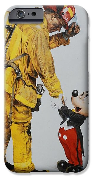 Magic Kingdom iPhone Cases - Mickey And The Bravest iPhone Case by Rob Hans