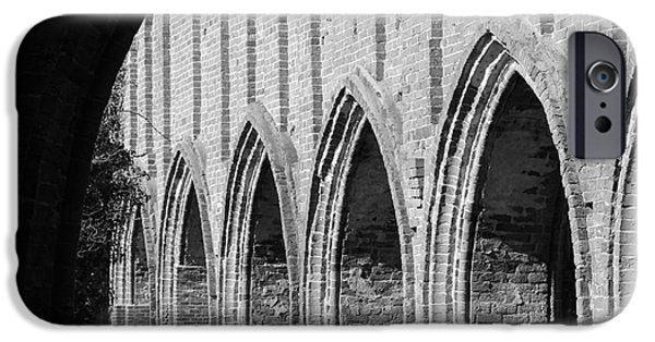 Ruin Reliefs iPhone Cases - Monastery Ruins iPhone Case by Four Hands Art