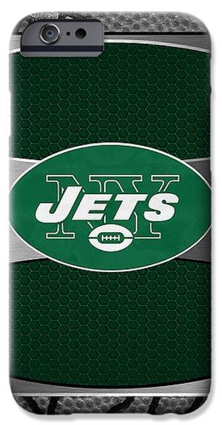 NEW YORK JETS iPhone Case by Joe Hamilton