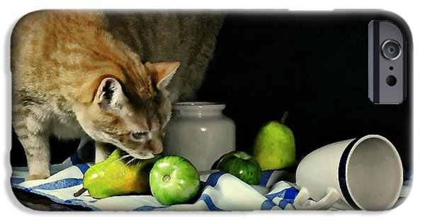 White Cloth iPhone Cases - Not So Still Life iPhone Case by Diana Angstadt