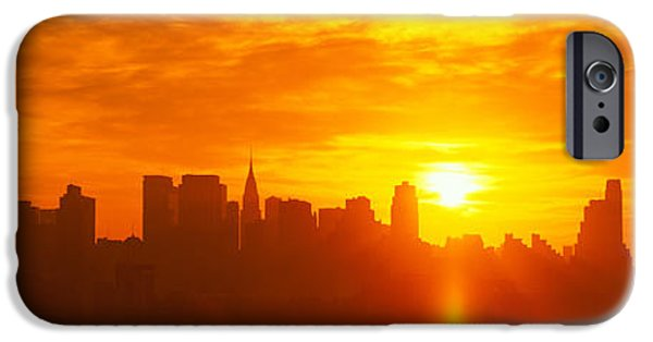 Sun Flare iPhone Cases - Nyc, New York City New York State, Usa iPhone Case by Panoramic Images