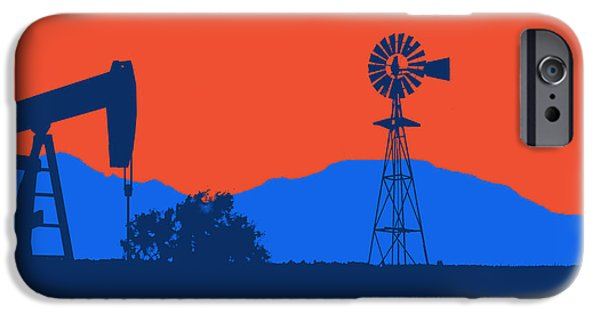 Division iPhone Cases - Oklahoma City Thunder iPhone Case by Joe Hamilton