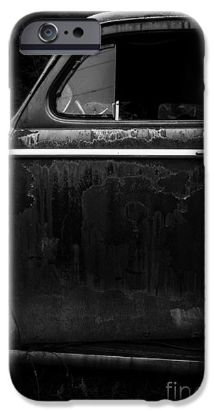 Hiding Photographs iPhone Cases - Old Junker Car iPhone Case by Edward Fielding