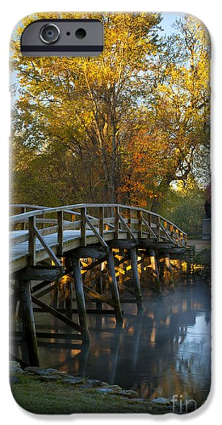 Concord Massachusetts iPhone Cases - Old North Bridge Concord iPhone Case by Brian Jannsen