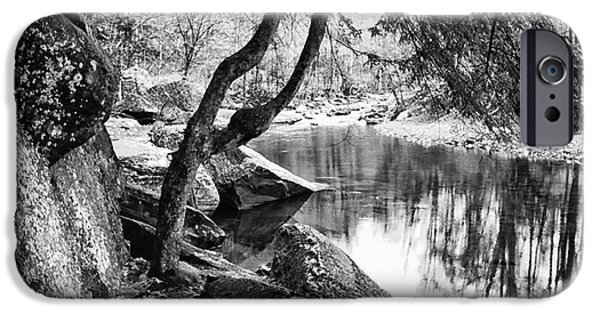 Otter Digital Art iPhone Cases - Otter Creek Wilderness iPhone Case by Thomas R Fletcher