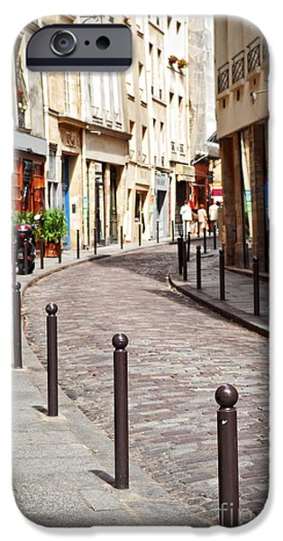 Travel Photographs iPhone Cases - Paris street iPhone Case by Elena Elisseeva