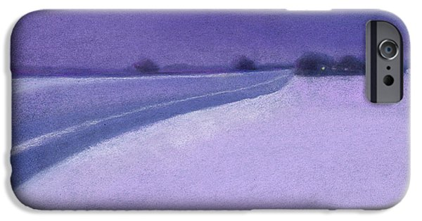 Minnesota Pastels iPhone Cases - 4 pm Rural Route 1 iPhone Case by Michael  Weber