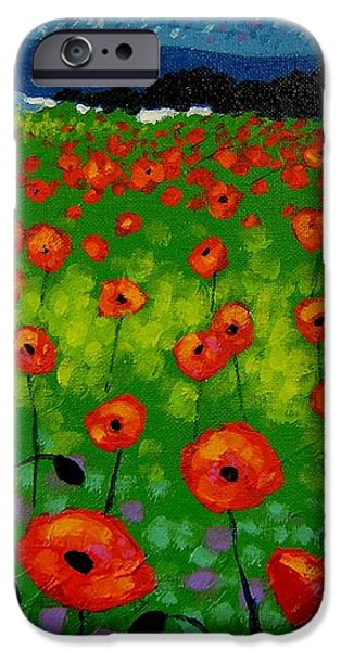 Poppy Field iPhone Case by John  Nolan