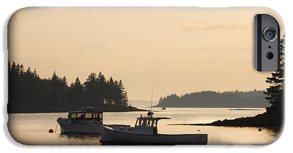 Maine iPhone Cases - Port Clyde Maine Fishing Boats At Sunset iPhone Case by Keith Webber Jr