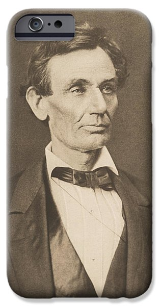 Lincoln iPhone Cases - President Abraham Lincoln iPhone Case by War Is Hell Store