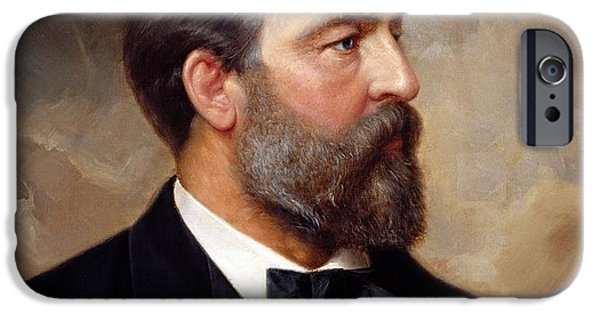 The President Of The United States iPhone Cases - President James Garfield iPhone Case by War Is Hell Store