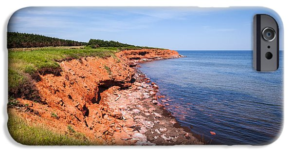 Province iPhone Cases - Prince Edward Island coastline iPhone Case by Elena Elisseeva