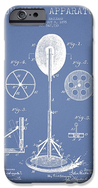Punch Digital iPhone Cases - Punching Apparatus Patent Drawing from1895 iPhone Case by Aged Pixel