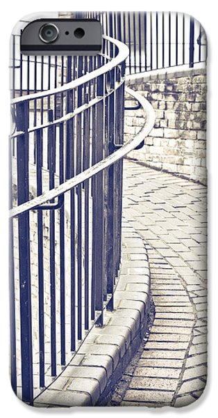 Alley Photographs iPhone Cases - Railings iPhone Case by Tom Gowanlock