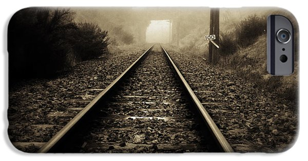 Industry iPhone Cases - Railway tracks iPhone Case by Les Cunliffe