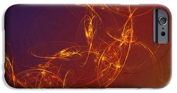 Flame Fractal iPhone Cases - 4 Rich iPhone Case by Edward Fielding