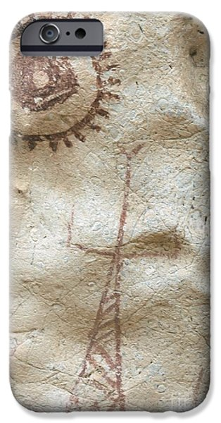 Overhang iPhone Cases - Rock Painting, Timor-leste iPhone Case by Louise Murray