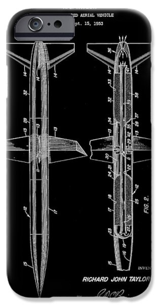Jet-propelled iPhone Cases - Rocket Patent 1953 - Black iPhone Case by Stephen Younts