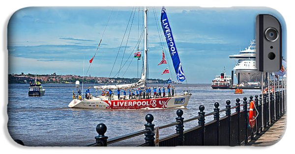 Boat iPhone Cases - Round the world clipper race June 6th 2008  iPhone Case by Ken Biggs