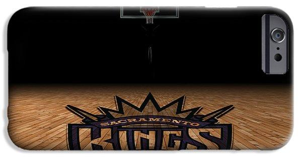 Dunk iPhone Cases - Sacramento Kings iPhone Case by Joe Hamilton