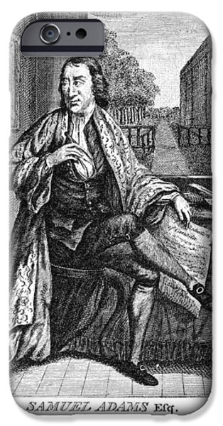 American Revolution iPhone Cases - Samuel Adams (1722-1803) iPhone Case by Granger