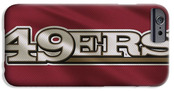 49ers iPhone Cases - San Francisco 49ers Uniform iPhone Case by Joe Hamilton