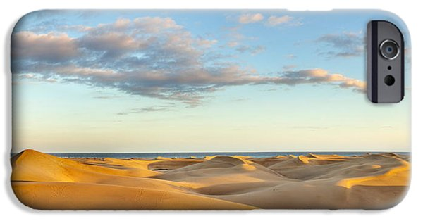 Sand Dunes iPhone Cases - Sand Dunes In A Desert, Maspalomas iPhone Case by Panoramic Images
