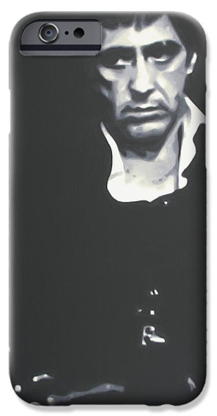 Oliver Stone iPhone Cases - Scarface 2013 iPhone Case by Luis Ludzska