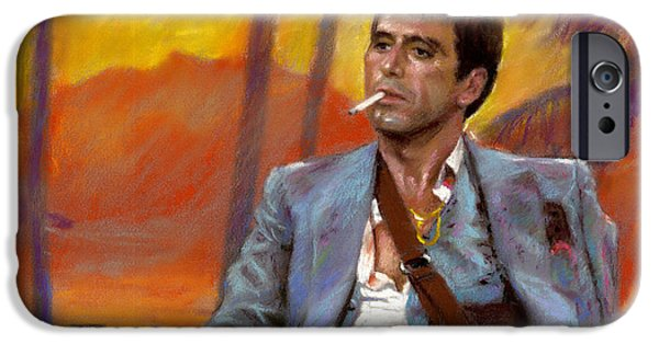 Al Pacino iPhone Cases - Scarface iPhone Case by Viola El