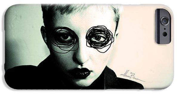 Bad Ass iPhone Cases - Self Portrait iPhone Case by Masha  Vereshchenko