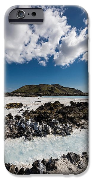 Power iPhone Cases - Silica Deposits In Water By The iPhone Case by Panoramic Images