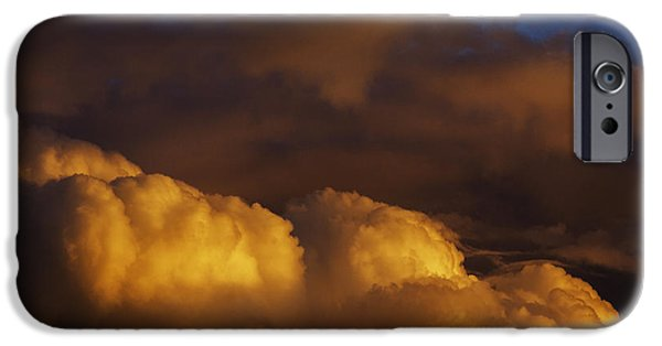 Colorful Cloud Formations iPhone Cases - Sky Drama iPhone Case by Thomas R Fletcher