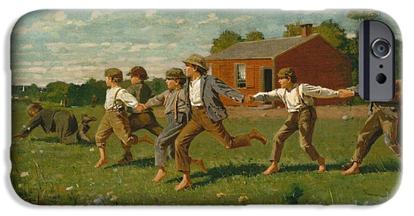 Ply iPhone Cases - Snap the Whip iPhone Case by Winslow Homer