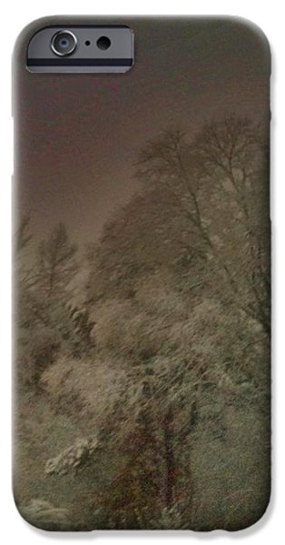 Snowy Night iPhone Case by Janice Spivey