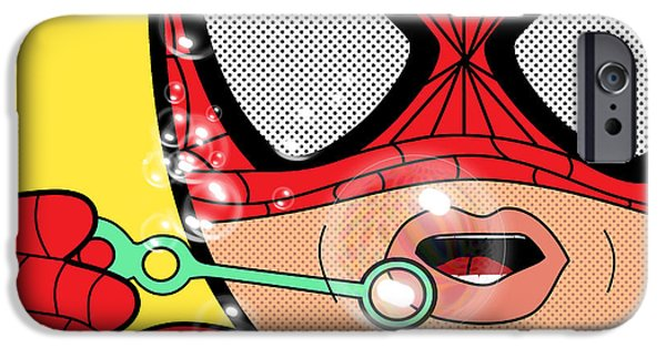 Young Digital Art iPhone Cases - Spiderman  iPhone Case by Mark Ashkenazi