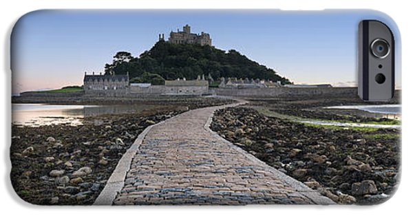Michael iPhone Cases - St Michaels Mount in Cornwall iPhone Case by Helen Hotson