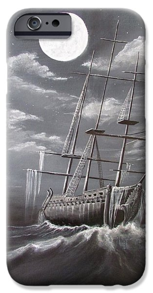 Pirate Ship iPhone Cases - Storm Corrosion iPhone Case by Christine Cholowsky