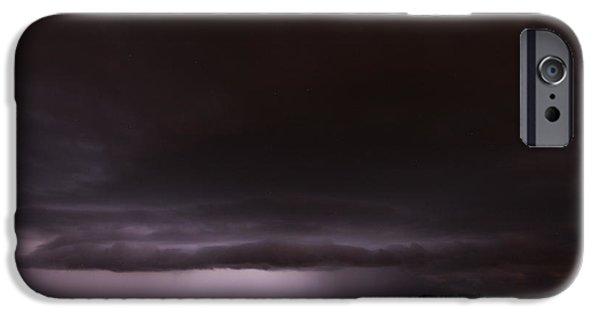 Storm iPhone Cases - Strong Overnight Nebraska Thunderstorms iPhone Case by Dale Kaminski