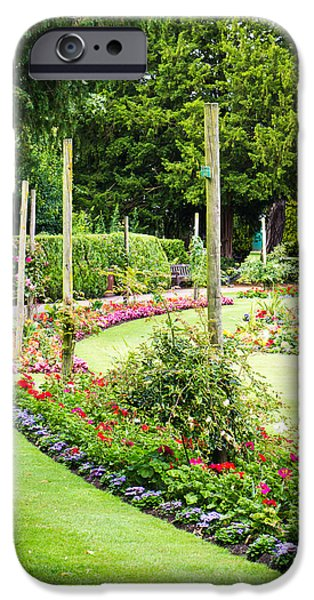 Abbey iPhone Cases - Summer garden iPhone Case by Tom Gowanlock