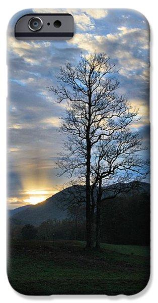 Sunrise In Cades Cove iPhone Case by Dan Sproul