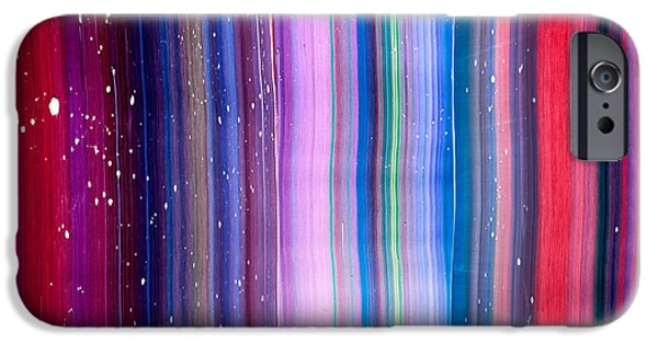 Intergalactic Space Paintings iPhone Cases - Supernova Texture iPhone Case by Chad Mars