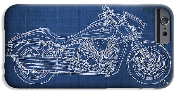 Suzuki iPhone Cases - Suzuki VZR 1800 2011 iPhone Case by Pablo Franchi