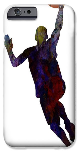 Dunk iPhone Cases - The Basket Player iPhone Case by Celestial Images