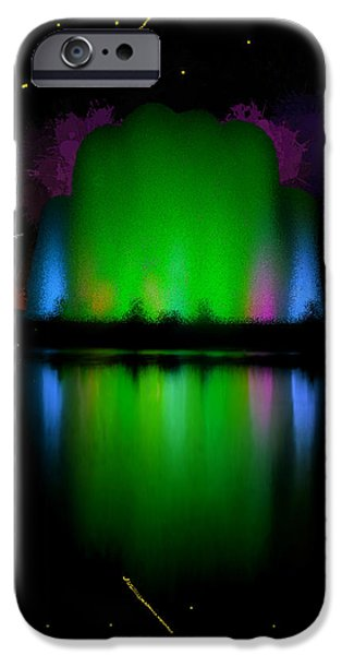 Prismatic Paintings iPhone Cases - The Electric Fountain iPhone Case by Bruce Nutting