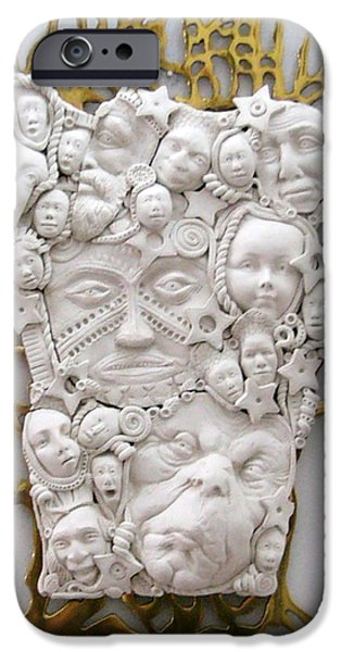 Fun Sculptures iPhone Cases - The Family Tree iPhone Case by Keri Joy Colestock