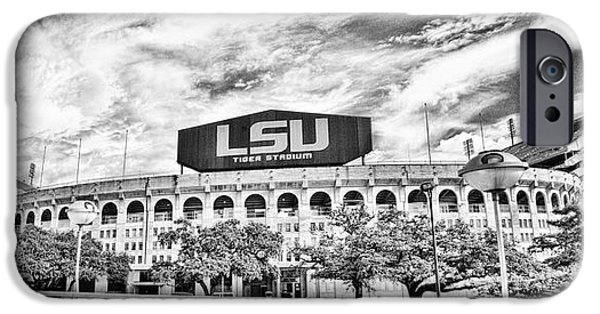 Tiger Stadium iPhone Cases - Tiger Stadium Panorama iPhone Case by Scott Pellegrin