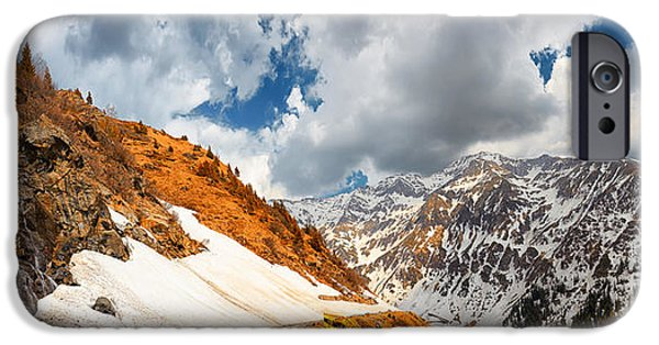 Wintertime iPhone Cases - Transfagarasan Highway iPhone Case by Gabriela Insuratelu